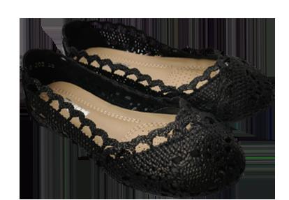Balerinki dziewczęce czarne 688-202