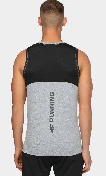 Bezrękawnik męski 4F fitness TSMF015 szary
