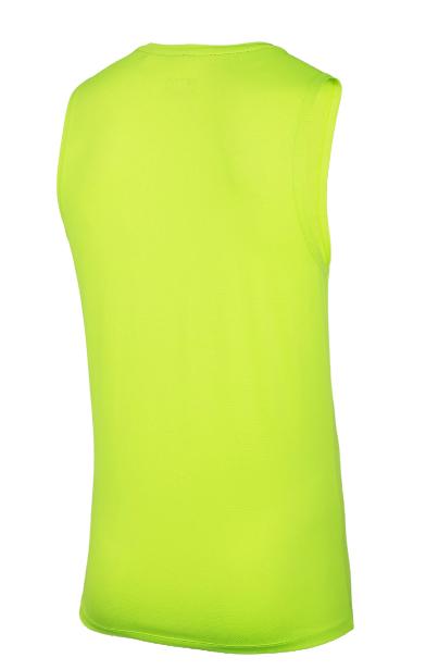 Bezrękawnik męski fitness TSMF001 zielony neon