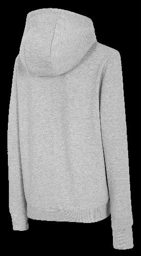 Bluza damska 4F BLD004 z kapturem szary