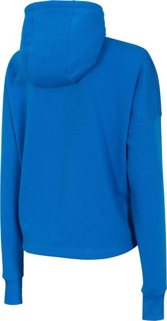 Bluza damska 4F BLD012 kaptur luźna niebieska
