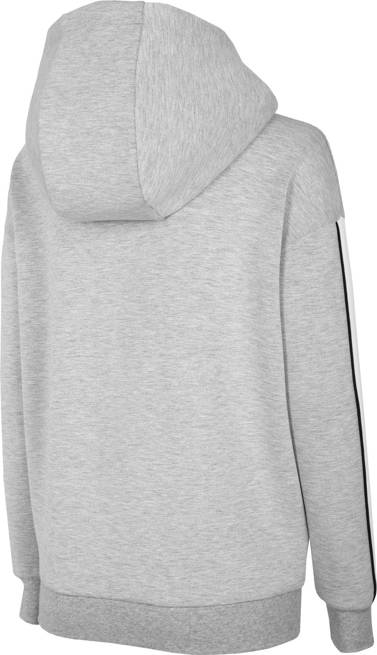 Bluza damska 4F BLD017 na zamek jasny szary