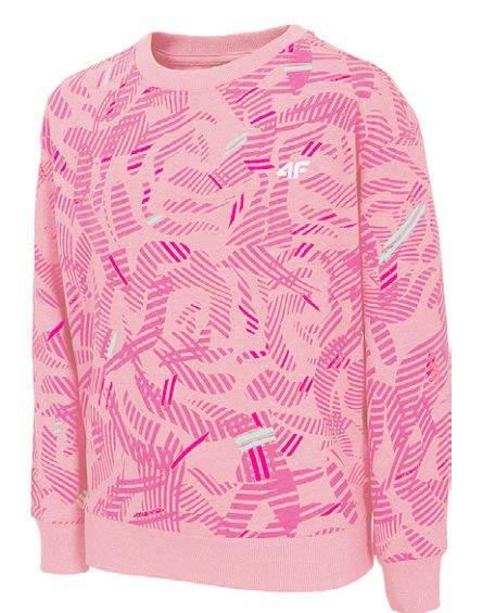 Bluza dziewczęca 4F JBLD003 różowa