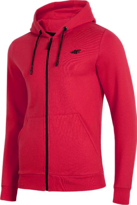 Bluza męska rozpinana 4F BLM074 czerwona