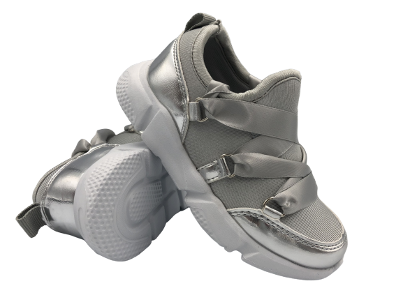 Buty dziecięce dziewczęce adidasy 1556-2D szare