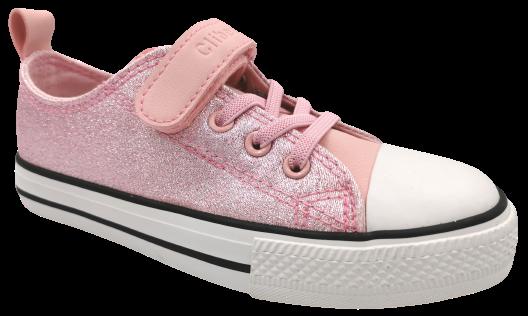 Buty dziecięce tenisówki sportowe różowe brokat