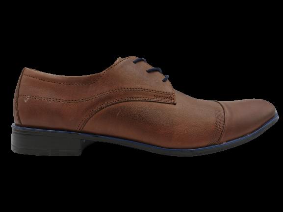 Buty eleganckie skórzane 0-110 brązowe