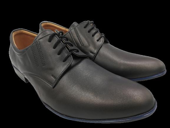 Buty eleganckie skórzane 262 czarny