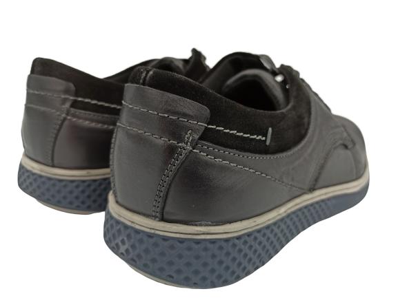 Buty męskie skórzane eleganckie AD9703C-1 czarne