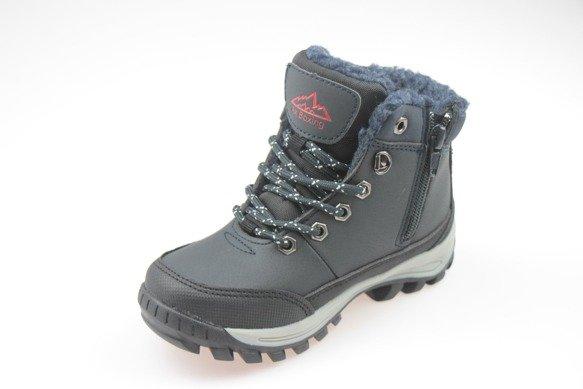 Buty zimowe chłopięce trapery ciemny granat 34