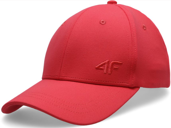 Czapka z daszkiem damska 4F CAD005 czerwona