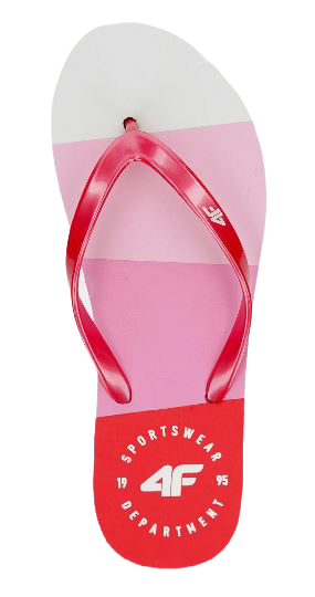 Klapki damskie japonki 4F KLD004 różowe