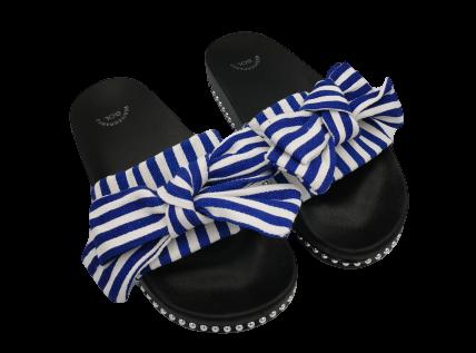 Klapki damskie z kokardą XF60-45 D.BLUE