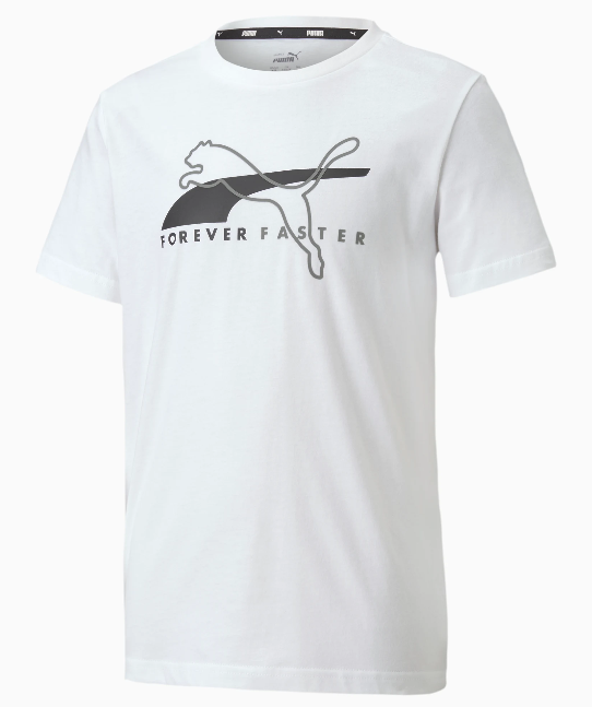 Koszulka dziecięca z bawełny PUMA biała