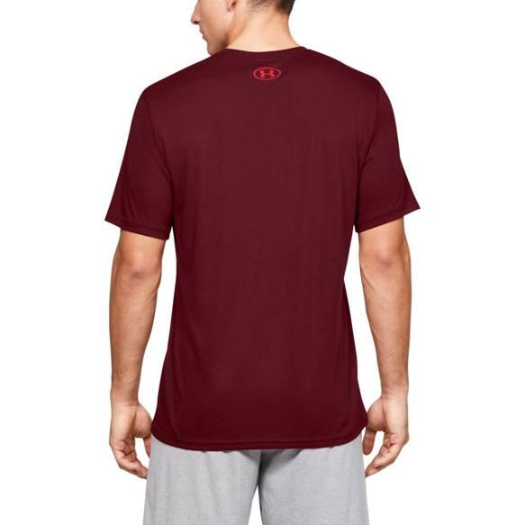 Koszulka z krótkim rękawem UNDER ARMOUR bordowa