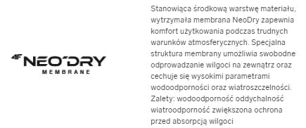 Kurtka damska 4F KUD001 miejska bordowa