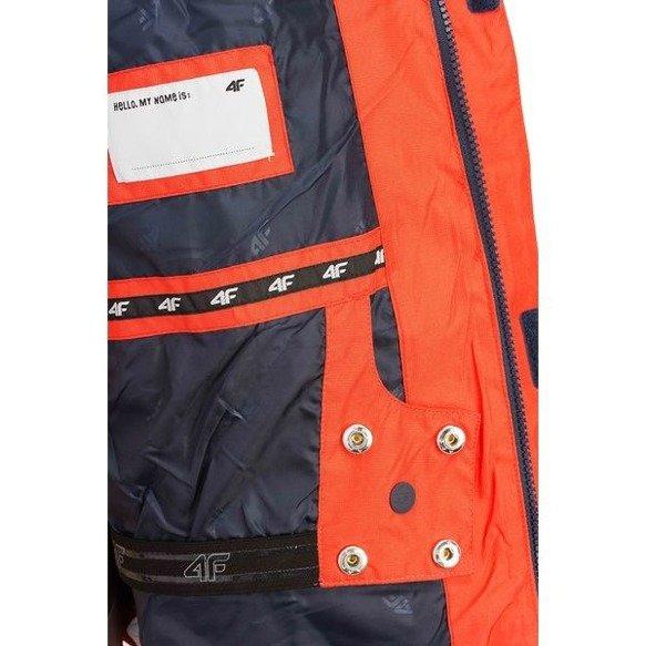 Kurtka narciarska dziecięca 4F pomarańczowa