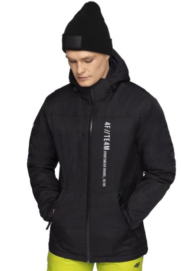 Kurtka narciarska męska zimowa 4F KUMN073 czarna