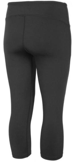 Legginsy damskie fitness 3/4 4F SPDF001 czarne XS