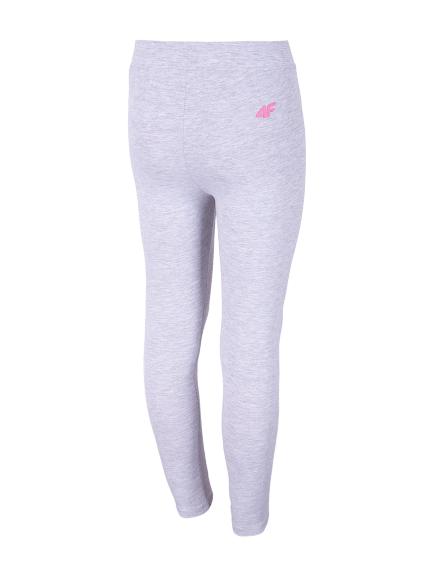 Legginsy spodnie dziewczęce 4F JLEG001A szare