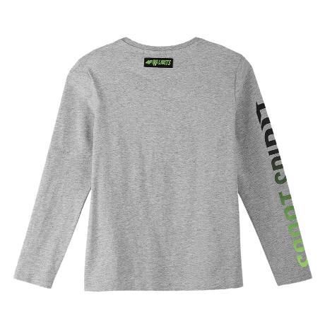 Longsleeve chłopięcy 4F JTSML001 bluzka szara