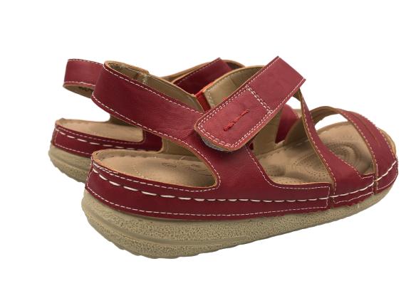 Obuwie medyczne sandały zdrowotne 2553306 czerwone