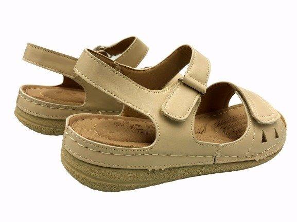 Obuwie medyczne sandały zdrowotne A10-255330-0 beż