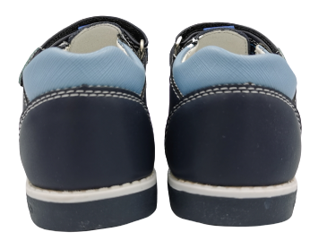Sandały chłopięce granatowe na rzepy  B-3356-C