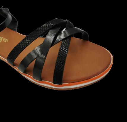 Sandały damskie eleganckie 99-62 czarne