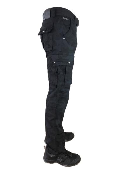 Spodnie bojówki myśliwskie czarne moro M2096 1