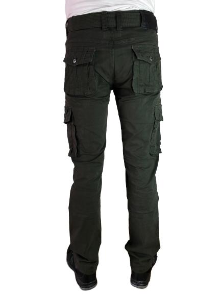 Spodnie bojówki myśliwskie zielone D1679 4