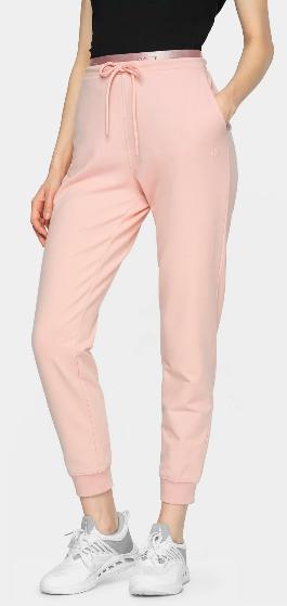 Spodnie damskie 4F SPDD011 dresowe różowe