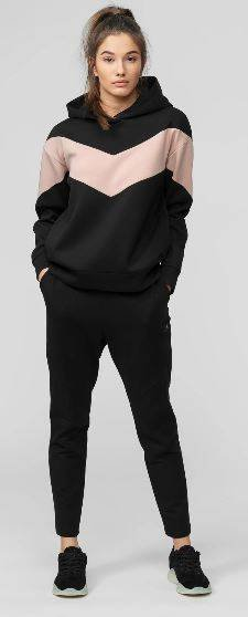 Spodnie damskie 4F SPDD015 dresowe czarne
