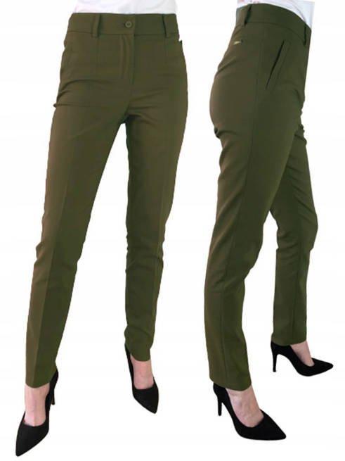 Spodnie damskie eleganckie Sigma zieleń
