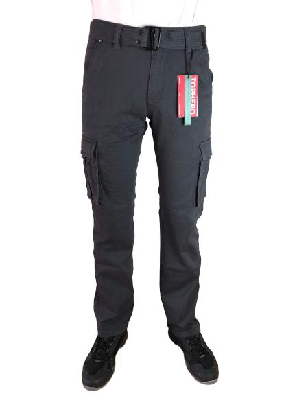 Spodnie męskie bojówki myśliwskie D1672 szare