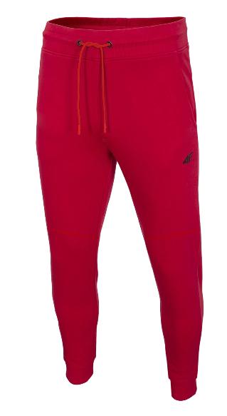 Spodnie męskie dresowe 4F SPMD013 czerwone