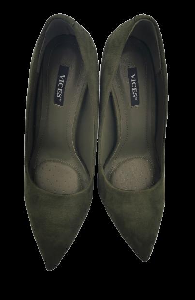 Szpilki damskie wysokie zielone 5101-29