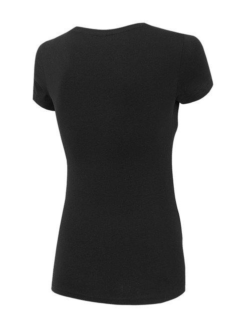T-shirt damski 4F TSD001 czarny bawełna