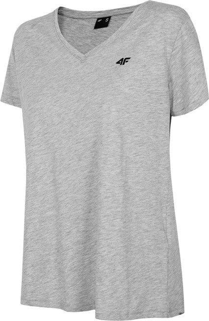 T-shirt damski 4F TSD002 SZARY bawełna