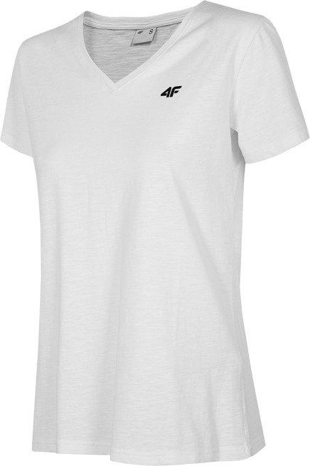 T-shirt damski 4F TSD002 bawełniany biała