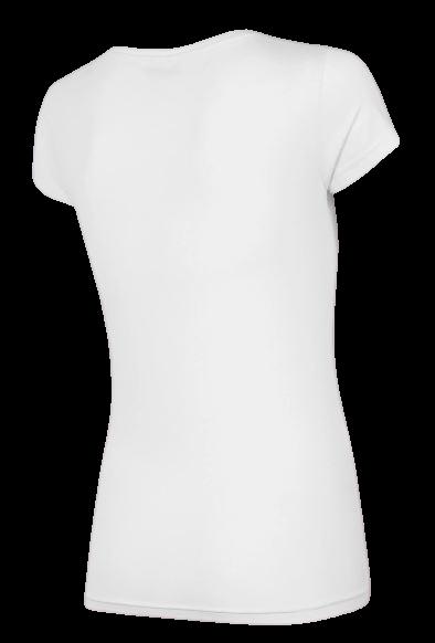 T-shirt damski 4F TSD005 bawełniany biały