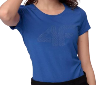 T-shirt damski 4F TSD005 bawełniany granat