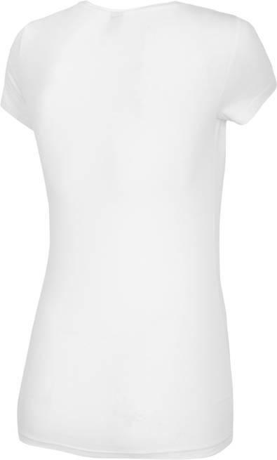 T-shirt damski 4F TSD014 bawełniany biały