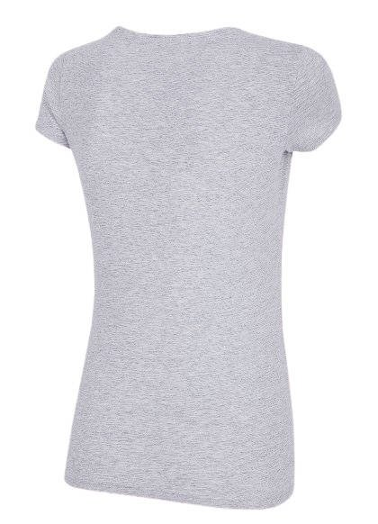 T-shirt damski 4F TSD014 szary bawełniany