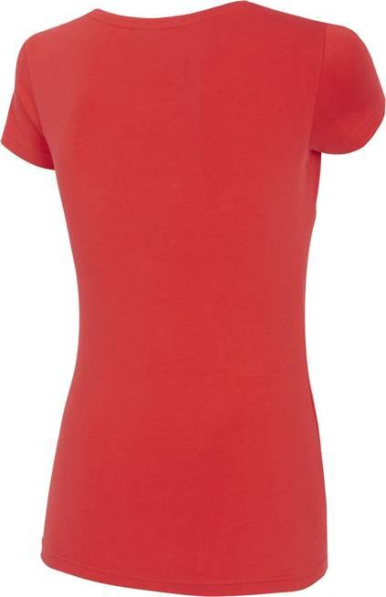 T-shirt damski 4F TSD020 bawełniany czerwony