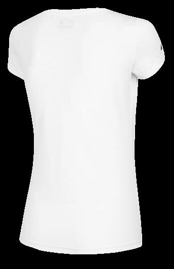 T-shirt damski 4F TSD060 biały bawełna