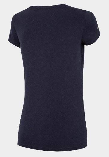 T-shirt damski 4F TSD060 granat bawełna