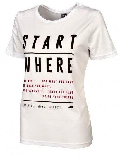 T-shirt damski 4F koszulka biała TSD009