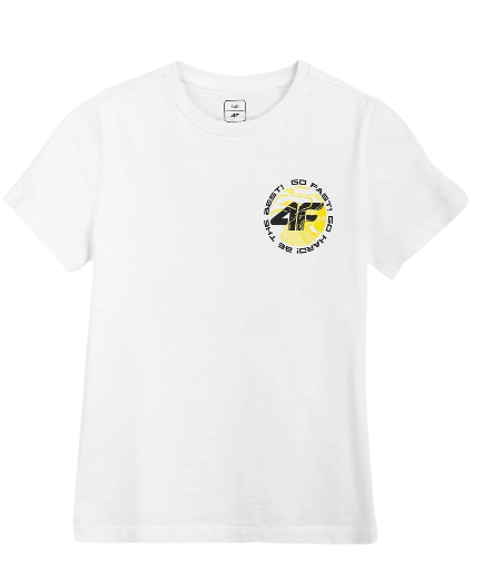 T-shirt dziecięcy 4F JTSM008A bawełniany