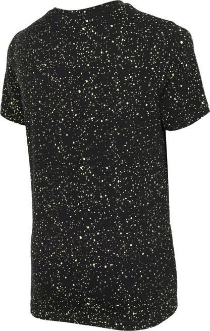 T-shirt dziecięcy 4F bawełniany JTSM006 czarny